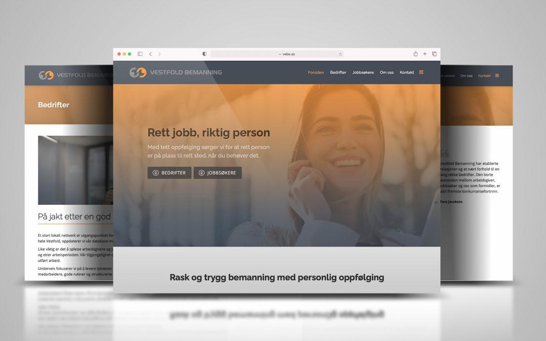 Nettside for Vestfold Bemanning
