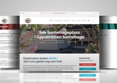 Nettside for Gapatrosten barnehage